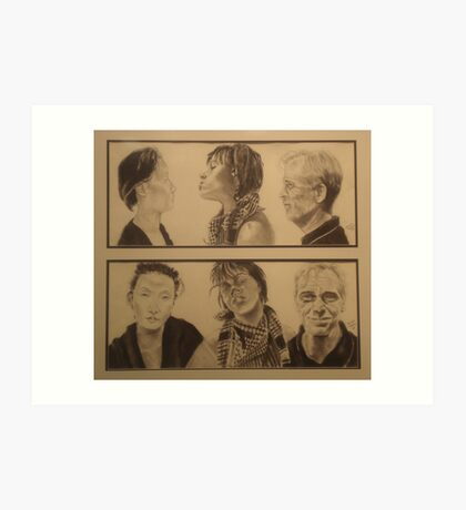 Six Portraits Art Print