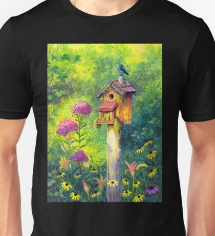 Bird House and Bluebird  Unisex T-Shirt