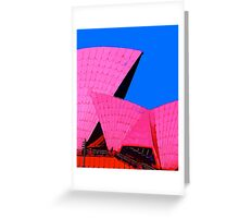 Tickled Pink Sydney Opera House Greeting Card