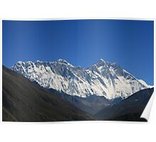 Everest above the Nuptse-Lhotse Wall Poster