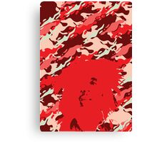 Camouflage Bob (Red) Canvas Print