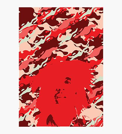 Camouflage Bob (Red) Photographic Print