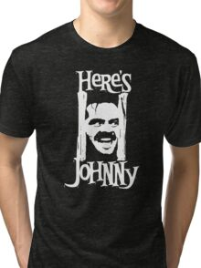 Heres Johnny The Shining Kubrick Tri-blend T-Shirt