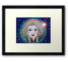 cosmic girl navy blue Framed Print