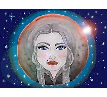 cosmic girl navy blue Photographic Print