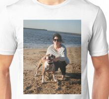 28. Georgia with her Staffy Ruby Unisex T-Shirt
