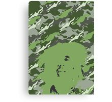 Camouflage Bob (Green) Canvas Print