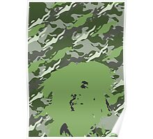 Camouflage Bob (Green) Poster