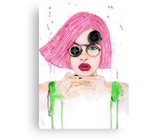 Pastel Steampunk Girl Canvas Print