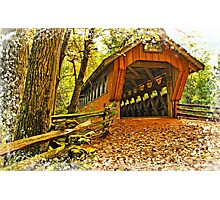 Covered Bridge,Little Hope Wisconsin #2 Photographic Print