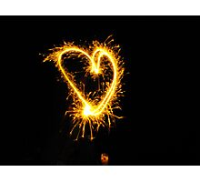 A 4th of July Sparkler Heart Photographic Print