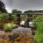 Old Clapper Bridge Postbridge Dartmoor by graham1