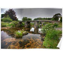 Old Clapper Bridge Postbridge Dartmoor Poster