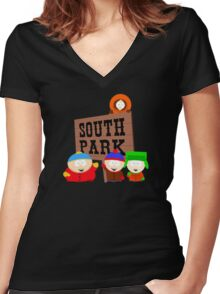 South Park is an American Women's Fitted V-Neck T-Shirt