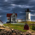 The Light at Cape Neddick by John Rinaldi