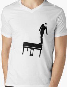 Rock n Roll Nerd Mens V-Neck T-Shirt