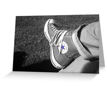 Blue Stared Converse Greeting Card