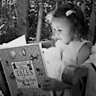 Reading In The Garden by Shelly Harris