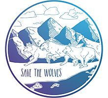 Save the Wolves! Photographic Print