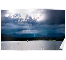 Clouds Over the Lake Poster