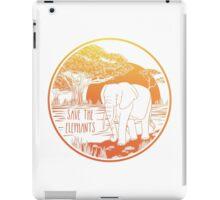 Save the Elephants! iPad Case/Skin