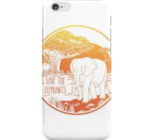 Save the Elephants! iPhone Case/Skin