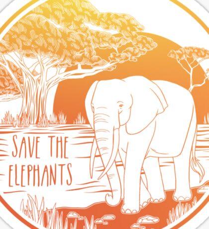 Save the Elephants! Sticker