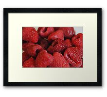 Red Raspberries Macro Framed Print
