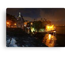Night City View of Old San Juan Canvas Print