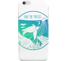 Save the Turtles! iPhone Case/Skin