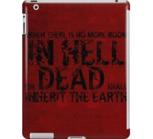 Zombie Walking Living Dead Quote iPad Case/Skin