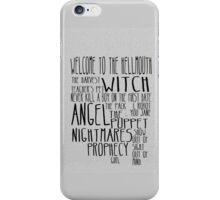 Buffy the Vampire Slayer Season 1 iPhone Case/Skin