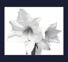 White Amaryllis Flower Kids Tee