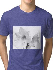 White Amaryllis Flower Tri-blend T-Shirt