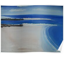 Shoreline Inlet painting Poster