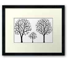 Small Tree Family Framed Print