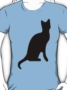 Halloween Black Cat Smooth Silhouette T-Shirt