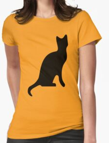 Halloween Black Cat Smooth Silhouette T-Shirt