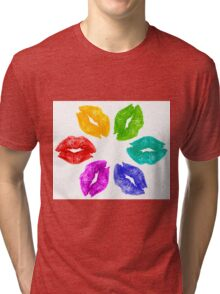 Color Kisses Tri-blend T-Shirt