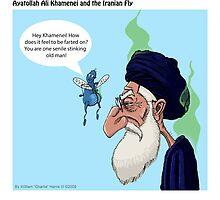 Ayatollah Ali Khamenei and The Iranian Fly by georgiaart1974