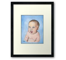 BABY RORY/Oil on canvas Framed Print