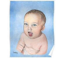 BABY RORY/Oil on canvas Poster