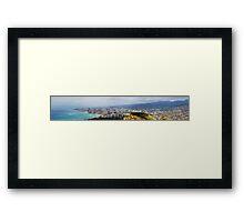 honolulu panorama Framed Print