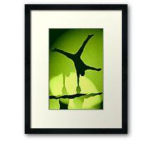 Hand Balancing Shadow Framed Print