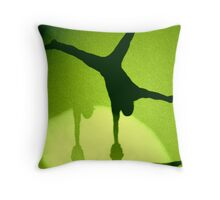 Hand Balancing Shadow Throw Pillow
