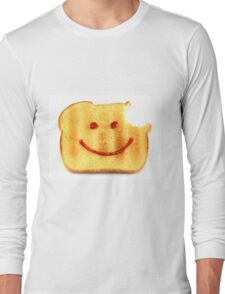 Bread with Happy Face Long Sleeve T-Shirt
