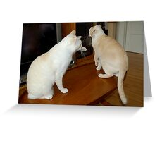 Alley Cats in the Living Room Greeting Card