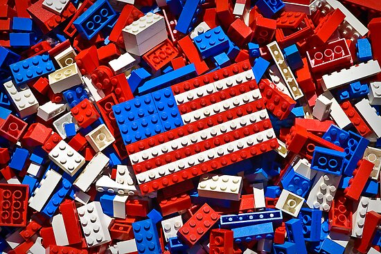 Lego Flag by Christopher R. Watts