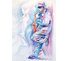 Sax by The Wall Photographic Print