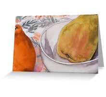 Pear and Mineola Still-life Greeting Card